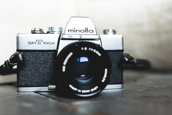 Camera front view | Minolta SRT100X