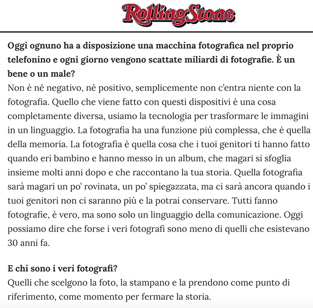 Intervista Salgado | Stampa